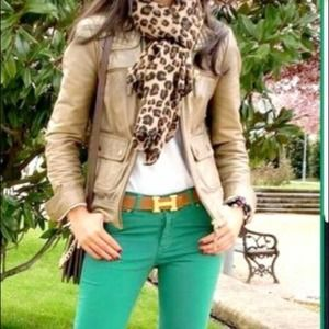 Level 99 Anthropologie Green Jeans